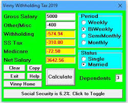How Are Payroll Taxes Calculated Vinny Federal Withholding Payroll Tax Calculator 2019 For Windows Pc