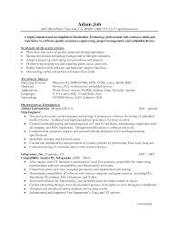 ... Qa Engineer Sample Resume 0 Test 6 Best Solutions Of In Proposal