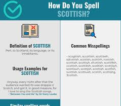 Classified as an indigenous language in scotland. Correct Spelling For Scottish Infographic Spellchecker Net