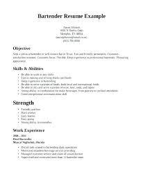 bartender objective bartender resume career objective sample objectives letsdeliver co