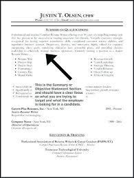 Resume Opening Statement Examples Blaisewashere Com
