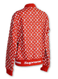 louis vuitton and supreme. louis vuitton supreme x leather bomber varsity jacket monogram m image 5 and