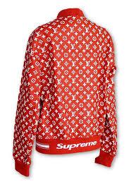 louis vuitton supreme x leather er varsity jacket monogram m image 5
