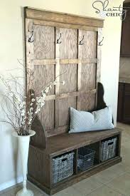 Hall Tree Coat Rack Storage Bench Entry Hall Tree Coat Rack Storage Bench Seat Entryway Great Foyer 46