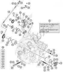 Lubricating system ktm 690 enduro r 2011 eu