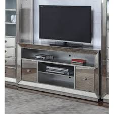 mirrored media cabinet. Mirrored TV Stand For TVs Up To 58 With Media Cabinet Wayfair