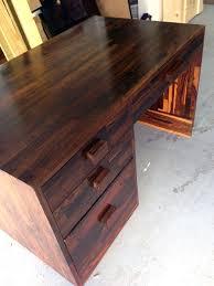 rare cocobolo wood desk don shoemaker for sale at stdibs