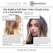 Hairstyles For Fall 2015 1 Amazing JOHNNY RAMIREZ FEATURED IN REFINERY 24 Ramirez Tran Salon