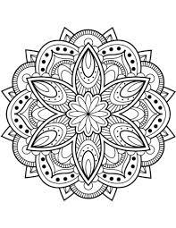 Bloem Mandala Kleurplaat Gratis Kleurplaten Printen