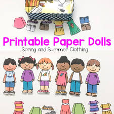 Add glitter and sequins or yarn and. Printable Paper Dolls For Spring Summer Winter And Fall Fun With Mama