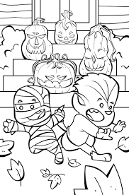 Funny Jack O Lanterns Coloring Page