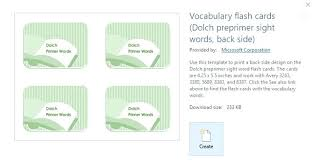 Flashcards Template For Word Example Of How The Template Has Been Used To Create Vocabulary Flash