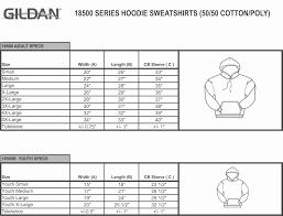 Gildan 18500 Size Chart Hoodie Sweatshirt 18500 Moonlight Threads