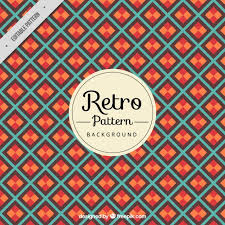 Retro Pattern Interesting Retro Pattern Background With Diamonds Vector Free Download