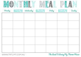 Daily Meal Plan Template Excel Calendar Day Fix Food Cost Monthly