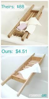 5 bath caddy diy cedar wood project