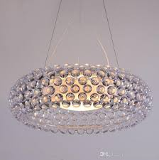 modern d65cm round acrylic pendant lamp indoor home lighting fixture lamparas colgantes for dinning room schoolhouse pendant light unique pendant lights
