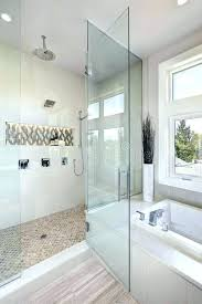 drop in tub with shower luxury bathroom interior with large walk in shower stock image drop in tub with shower