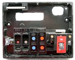 memera 3 four way plastic rewireable fusebox internal view of a memera 3 plastic fusebox