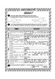 english teaching worksheets writing essays english worksheets discursive essay made easy 12 sample essays