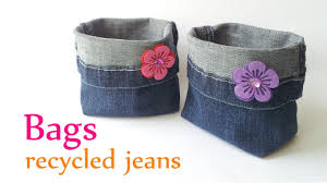 DIY crafts: BAGS recycled <b>jeans</b> (very EASY) - Innova Crafts ...