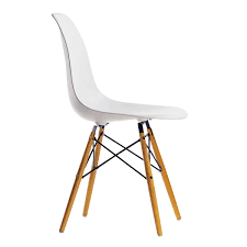 white eames chair. Perfect White Vitra  Eames Plastic Side Chair DSW Yellow Maple  White And White