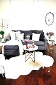 fur area rug white