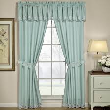 Patterned Curtains Living Room Traditional Living Room Decor With Blue Floral Pattern Curtain On
