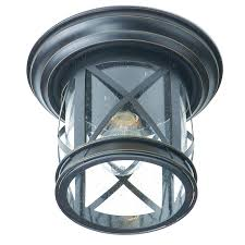 trans globe lighting new england coastal rubbed oil bronze outdoor flush mount ceiling light