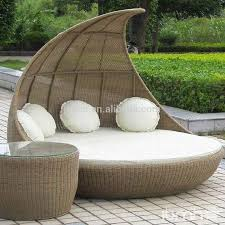 Round Outdoor Bed Outdoor Canopy Bed Outdoor Bali Style Sun Day Bed Cushion Lounger