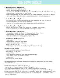 Sample Baby Shower Checklist 24 Baby Showers Checklist Examples Samples 4