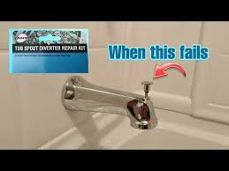 tub spout diverter how to fix from