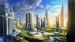 city of the future fantasy hd wallpaper 1920 1080 4985