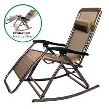 gravity lounge chair infinity zero gravity rocking chair outdoor lounge patio folding reclining chair brown zero