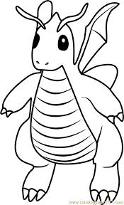 Small Picture Dragonite Pokemon GO Coloring Page Free Pokmon GO Coloring