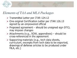 Do S And Don Ts Of Drafting Taas And Mlas Presented To National