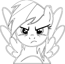 Small Picture Rainbow Dash Coloring Pages Wecoloringpage
