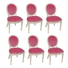 of 8 white lacquer dining chairs at 1stdibs