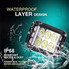 1Pcs <b>ECAHAYAKU</b> Strobe <b>60W</b> LED Work Light 12V Side Shots <b>4</b> ...