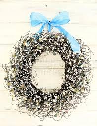 Winter Wedding Decor Winter Wedding Wreath Vintage Wedding Decor Teal Blue Creamy