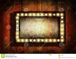 Marquee Sign With Lights Grungy Sign With Lights Stock Illustration Illustration Of
