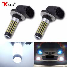 2pc H27 880 881 Led Bulb For Cars H27w2 H27w2 Auto Fog Light 780lm