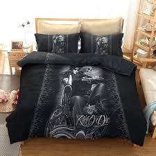 gothic comforter sets comforter bedding sets duvet cover king queen size punk rock lit bed linen