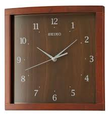 detailed image of seiko qxa675zlh square curved wall clock