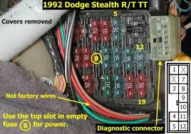 diagnostic port for 3000gt and stealth reading codes here is a picture of the diagnostic port and the pin numbers on that port this port is located next to the fuse box inside the car on the driver side