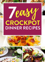 kitchen table with food.  Food 7 Easy Crockpot Dinner Recipes For Busy Weekdays To Kitchen Table With Food