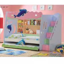 SmartDeco Cartoon Bunk Bed Dolphin single single single