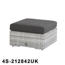 Edge Island Rattan Footstool 68x68cm With Cushion