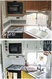 Remodel My Kitchen Before And After Pictures Of A Rv Kitchen Renovation Camper