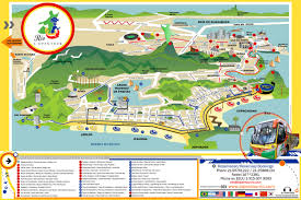 map of rio de janeiro tourist attractions sightseeing  tourist tour